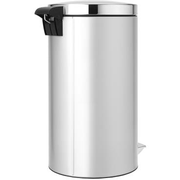 Brabantia Treteimer, 45 Liter Metallic Grey, Deckel: Brilliant Steel