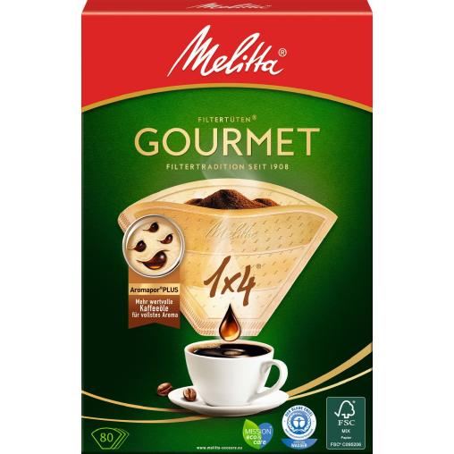 Melitta® Filtertüten 1x4/80 Gourmet  AROMA