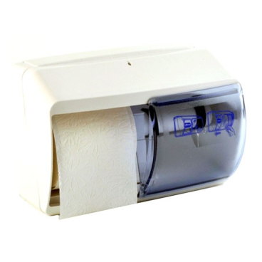 Toilettenpapierspender für 2 Rollen Farbe: weiß