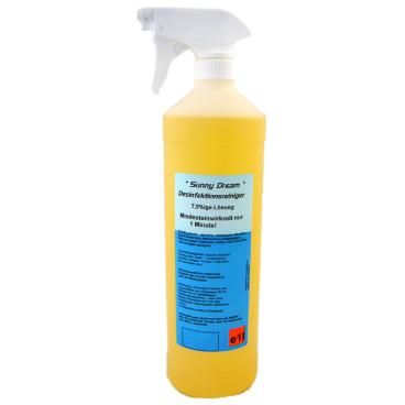 Sunny Dream 7,5% Gebrauchsfertiger Desinfektionsreiniger 1000 ml - Flasche mit Sprühkopf