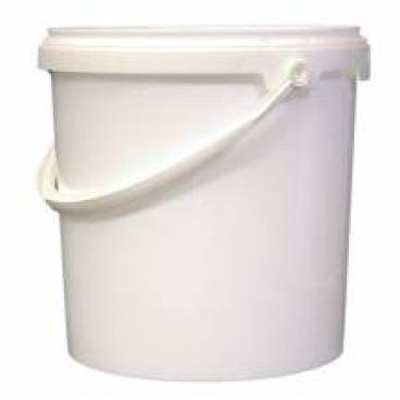 Kunststoffeimer lebensmittelecht Fassungsvermögen: 5 l, Farbe: weiß, ohne Deckel