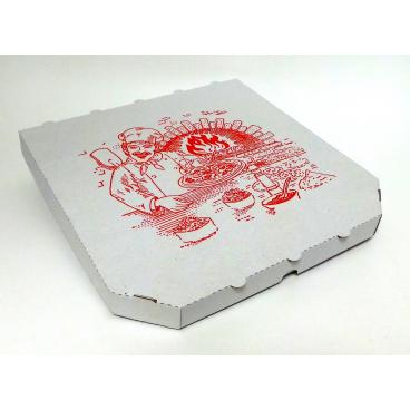 Pizzakarton, 26 x 26 cm 1/2 Palette = 2.400 Stück, quadratisch
