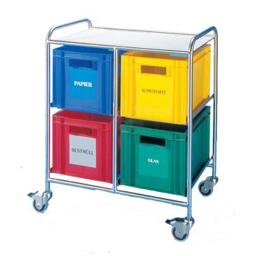 novocal Wertstoffsammler 4 Kästen, Kastengröße 400 x 600 x 270 mm
