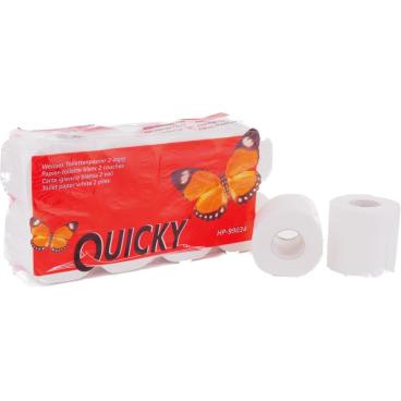 Toilettenpapier, Tissue, 2-lagig, weiß 1 Paket = 8 Packungen à 8 Rollen = 64 Rollen