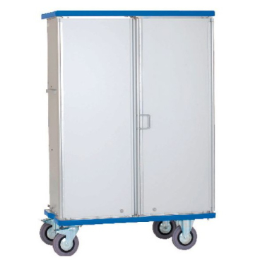 Novocal Schrankwagen Aluminium, eloxiert GS 200, 3-Fächer, 200 Kg Fassungsvermögen