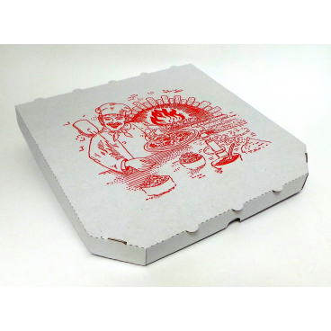 Pizzakarton, 26 x 26 cm 1 Palette = 4.800 Stück, mit abgeschrägten Ecken