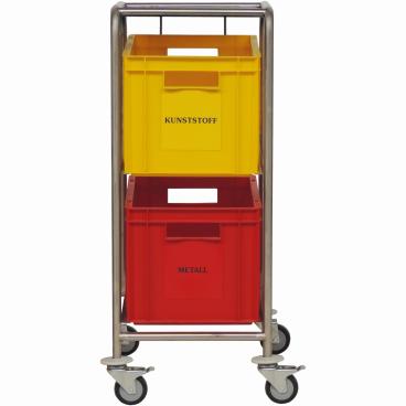 Novocal Wertstoffsammler 2 Kästen, Kastengröße 400 x 600 x 270 mm