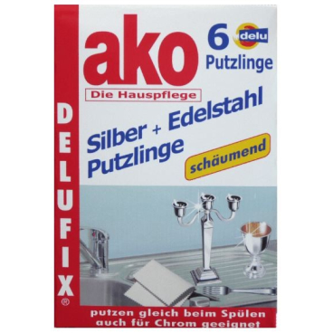 ako® Delufix® Silber + Edelstahl Putzlinge