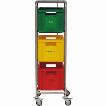 Novocal Wertstoffsammler 3 Kästen, Kastengröße 300 x 400 x 270 mm