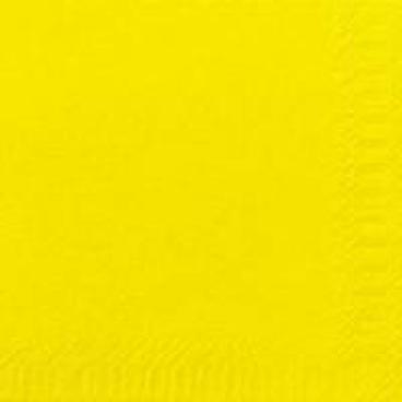 DUNI Servietten, 40 x 40 cm, 3-lagig, 1/4 Falz gelb