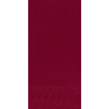DUNI Servietten, 33 x 33 cm, 3-lagig, 1/8 Falz bordeaux
