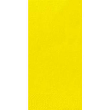 DUNI Servietten, 33 x 33 cm, 3-lagig, 1/8 Falz gelb