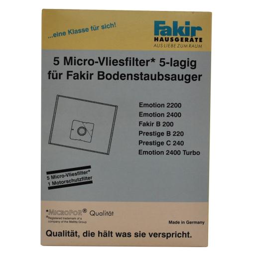 Fakir Staubsaugerbeutel Micro-Vlies