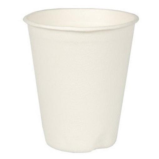 Papstar Pure Trinkbecher für Heißgetränke, Zuckerrohr, 0,2 Liter