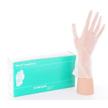"""Manyl® - Einmalhandschuhe 1 Packung = 100 Stück, Größe """"L"""" (8-9)"""