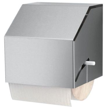 Halter für Papiertuchrollen, Edelstahl geschliffen und einer Rollenbreite von 220 mm