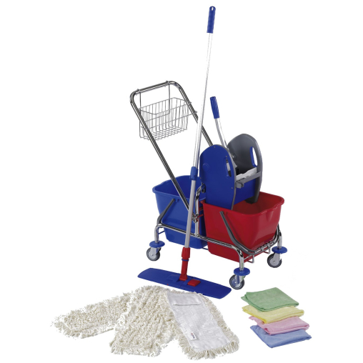 Floorstar Doppelfahrwagen Cleaning Kit M SOLID 2 x 17 l