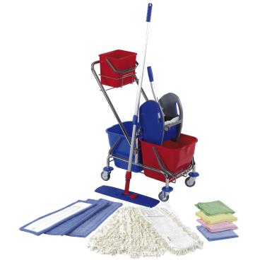 Floorstar Doppelfahrwagen Cleaning Kit L SOLID 2 x 17 l