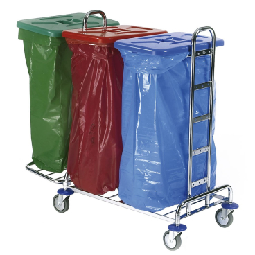 Floorstar Abfallsammelwagen Trennwagen 3 SOLID ohne Deckel