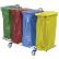 Floorstar Abfallsammelwagen Trennwagen 4 SOLID ohne Deckel