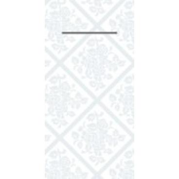 """Mank Pocket-Napkins Structure """"Damast"""" Besteckservierttentasche"""