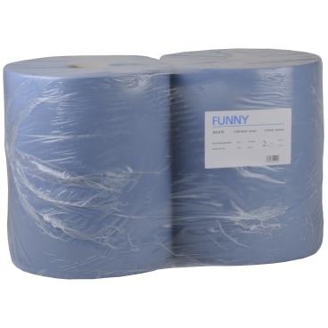 Papierputztuch auf Rolle, 36 x 34 cm, 2-lagig, blau