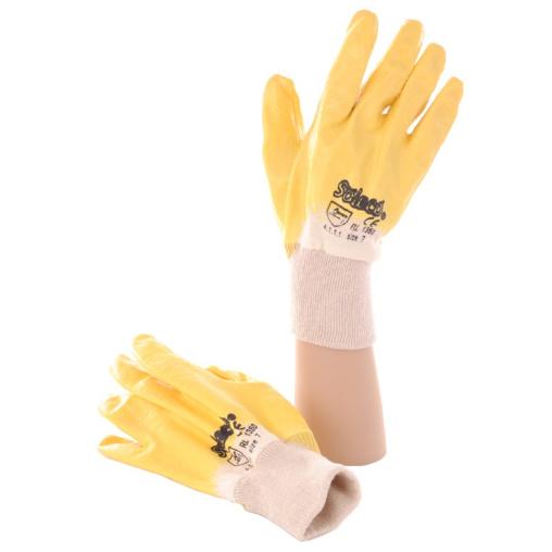 Schutzhandschuhe Nitril, gelb