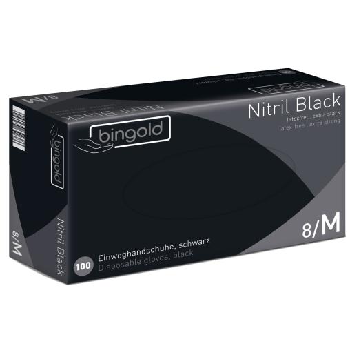 BINGOLD Einweghandschuhe Nitril Black