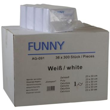 "Spenderserviette ""Compact"", 23 x 30 cm, weiß 1 Karton = 36 x 300 Stück = 10800 Stück"