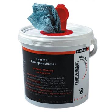 Wiper Bowl feuchtes Reinigungstuch 1 Karton = 6 Eimer à 72 Polytex-Tücher