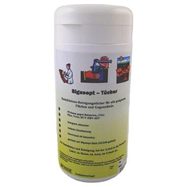 HIBOmed BiguSept fluid -Desinfektionstücher- Dose mit 100 Tüchern