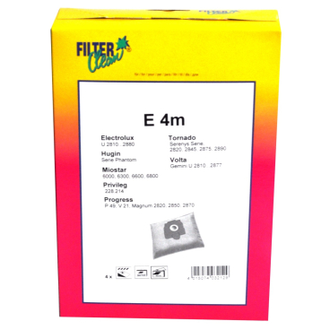 Staubsaugerbeutel E 4m 1 Schachtel = 4 Stück, 1 Mikrofilter, 1 Motorfilterv