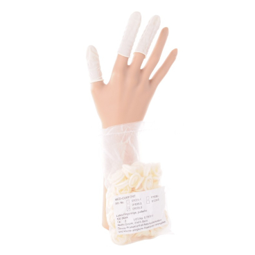 Latex Fingerlinge, ungepudert Gr. 3 = M