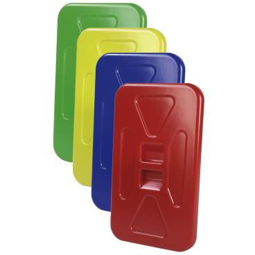 Floorstar Kunststoffdeckel D 120 für Halterahmen 120 l Farbe: rot
