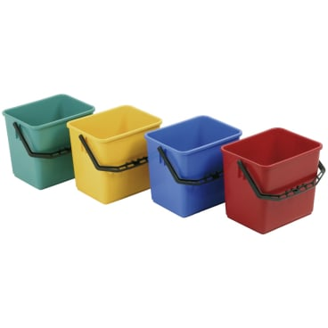 Floorstar Kunststoffeimer E 6, 6 l mit Literskala Farbe: rot