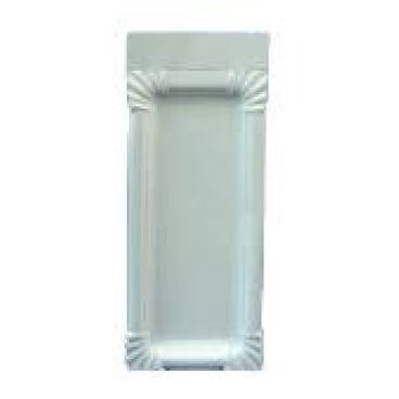 Pappteller, weiß, rechteckig aus Triplexkarton 1 Karton = 2 x 250 = 500 Stück, 18 x 26 cm