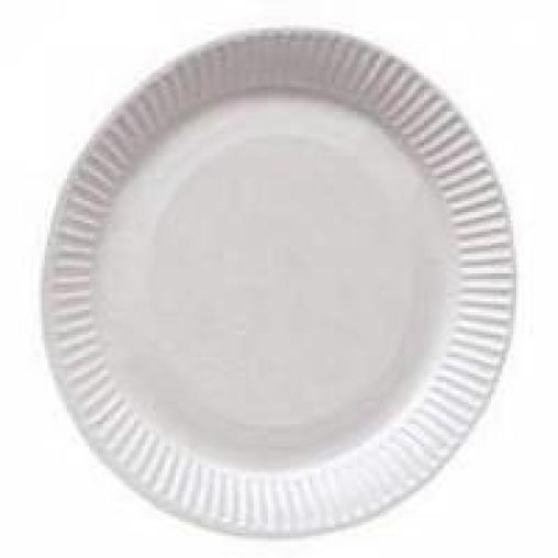 Pappteller, weiß, rund