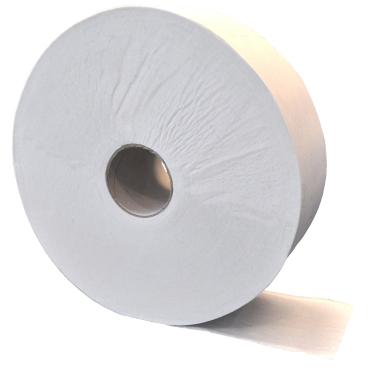 Jumbo-Toilettenpapier, Tissue, 2-lagig, hochweiß ½ Palette = 21 Pakete = 126  Rollen à ca. 380 m