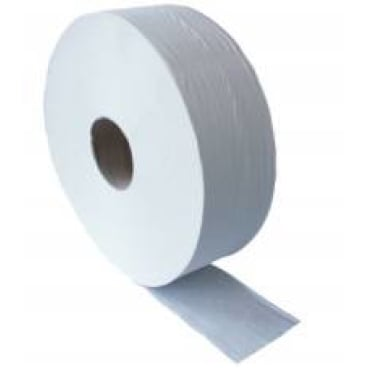 Jumbo-Toilettenpapier, Tissue, 2-lagig, hochweiß 1 Palette = 48 Pakete