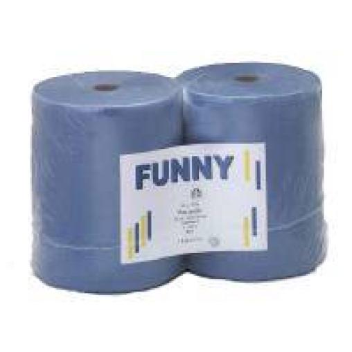 Papierputztuch auf Rolle, 26x38 cm, 3-lagig, blau