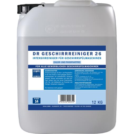 DR Geschirrreiniger 26 chlor- und phosphatfrei