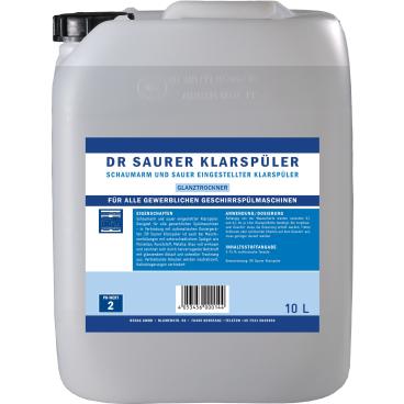 DR Saurer Klarspüler 10 l - Kanister