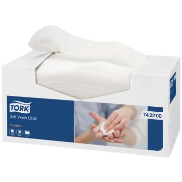 Tork Waschtuch Premium, Einzeltücher 1 Karton =  8 Boxen x 135 = 1.080 Tücher