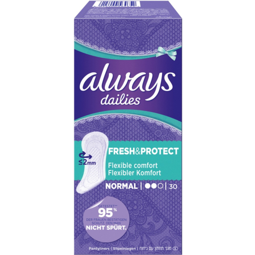 Always dailies Slip-Einlagen Fresh & protect, Normal