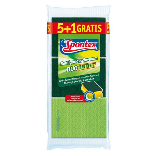 Spontex Reinigungsschwamm DUO Anti-Fett 5-er