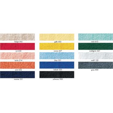 MEGA Clean Professional Baumwoll-Handtuch, 50 x 100 cm 1 Packung = 10 Stück, Farbe: grau