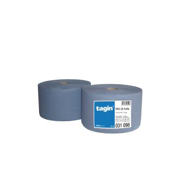 Putztuchrolle PRO 35 tagin, 3-lagig, blau, perforiert