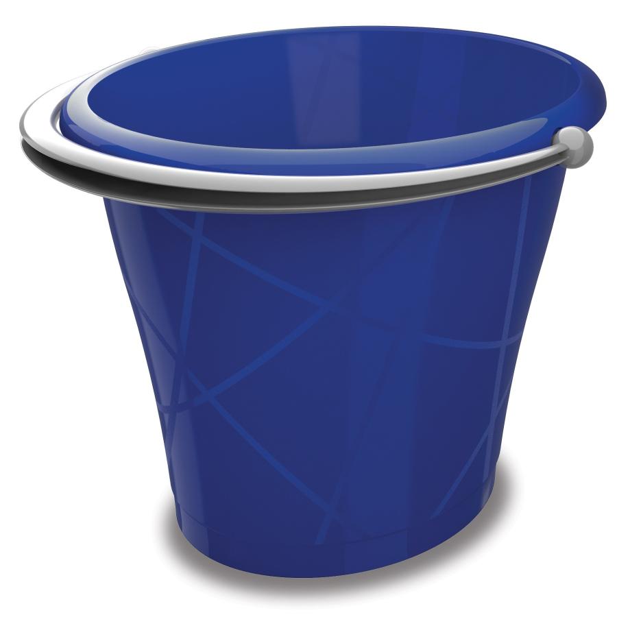 Kis Oval Bucket Eimer In Verschiedenen Farben Farbe Blau
