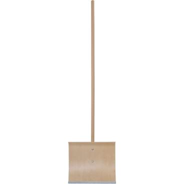 Schneeschieber aus Holz Stiel 130 cm; Schaufel: 40 cm mit Metallkante