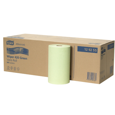 12 Putztuchrollen Handtuchpapier 1 lagig 20 cm weißlich recycling MINI AG-080